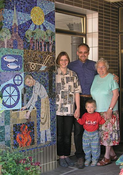 Mosaik Carl Lambertz und Familie Kasimir